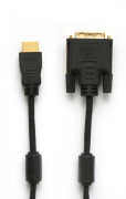Cable HDMI to DVI-D Single Link A-M/DVI (18+1)-M 2 filters, 2,0 m  (gold-plated) (К122)/100/